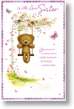 Carefree Day, Sister Birthday Card