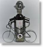 Cyclist Wine Bottle Holder, Novel Gift
