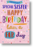 Fab Day, Sister Birthday Card