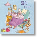 Comfy Armchair, 80th Birthday Card