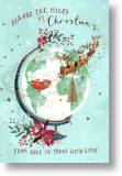 Globe, Across the Miles Christmas Card