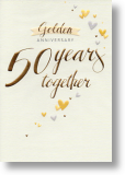 Golden, 50th Anniversary Card