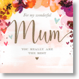 Hearts and Flowers, Mum Birthday Card