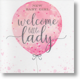 Little Lady, New Baby Girl Card