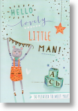 Little Man, New Baby Boy Card
