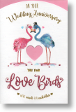 Love Birds, Anniversary Card