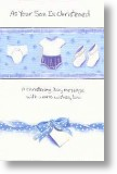 Blue Ribbon, Christening Card