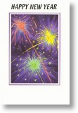 Fireworks, New Year Card