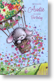 Balloon Ride, Auntie Birthday Card