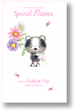 Cute Badger, Nanna Birthday Card
