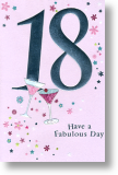 Fabulous Day, 18th Birthday Card