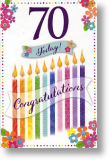 Candles, 70th Birthday Card