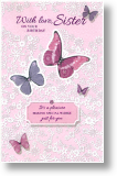 Butterflies, Sister Birthday Card