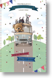 Campervan Ted, Uncle Birthday Card