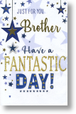 Fantastic Day, Brother Birthday Card