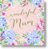 Wonderful Mum, Floral Mum Birthday Card