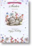 Wonderful, Sister Birthday Card