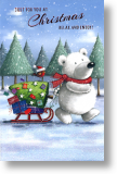 Polar Bear, Cute General Christmas Card