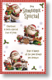 Busy Santa, Someone Special Christmas Card