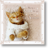 Cat's Whiskers, Sister Birthday Card