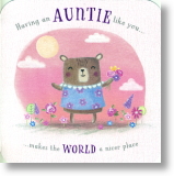Cute Bear, Auntie Birthday Card