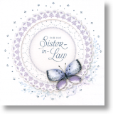 Butterfly Lace, Sister-in-law Birthday Card