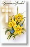 Cross and Daffodil, Grandparent's Easter Card