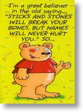 Sticks and Stones...