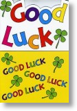 Four Leafed Clover, Good Luck Card