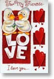 Duck Duo, Fiancee Valentine's Day Card