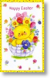 Basket of Flowers, Easter Card