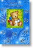 Building Blocks, Boy Christening Card