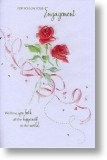 Entwined Roses, Engagement Card