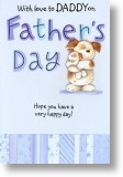 Cuddles, Daddy Father's Day Card