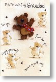 Dancing Bear, Grandad Father's Day Card