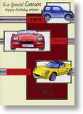 Fast Cars, Cousin Birthday Card