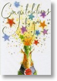 Bottle, Congratulations Card