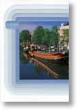 Canal Barge, Scenic Blank Card