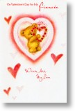 Flower Heart, Fiancee Valentine's Day Card