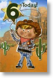 Cowboy, 6th Birthday Card