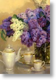 Lilacs with Fine China