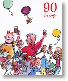 Celebrations, 90th Birthday Card