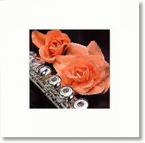 Flute and Roses, Birthday Card for Her