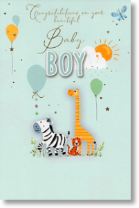 Big Welcome, New Baby Boy Card