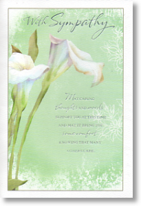 Caring Thoughts, Sympathy Card