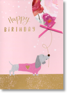 Dachshund, Cute Birthday Card for Her