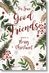 Evergreens, Special Friends Christmas Card
