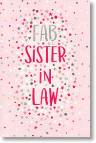 Fab, Sister-in-law Birthday Card