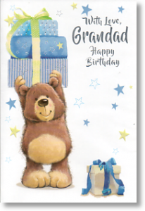 Happy Birthday, Cute Grandad Birthday Card