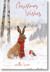 Hare and Robin, General Christmas Card